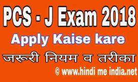 PCSJ Exam 2018 Me Avedan Kaise Kare | Puri Jankari Hindi Me