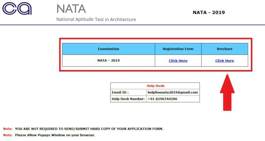 Fill Your Nata Online Registration Form