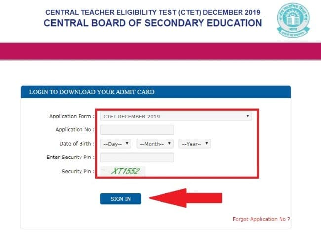 Get Your CTET Admit card 2019
